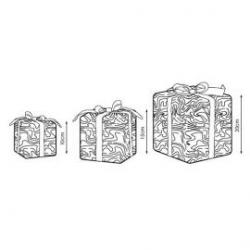 Motivo navideño leds blanco cálido Ice Gift de Prilux