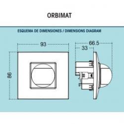 Interruptor proximidad para caja mecanismo Orbis Orbimat/ 80.26€