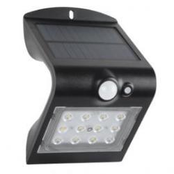 Aplique pared solar de exterior IP65 1,5W 840 220lm Negro de Prilux