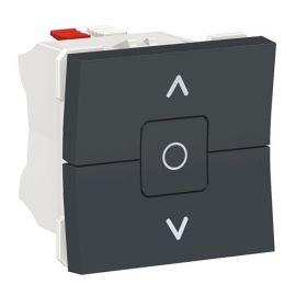 Interruptor persianas antracita New Unica NU320818