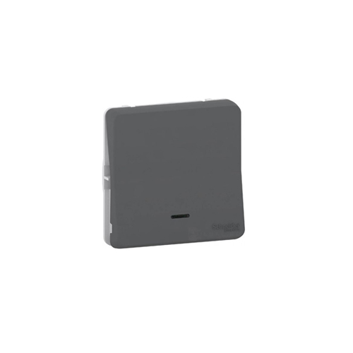 Pulsador gris LED señalizacion Schneider Mureva Styl MUR35127