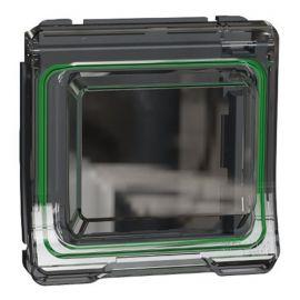Adaptador gris para mecanismos Unica con tapa Schneider Mureva Styl MUR35106