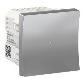 Regulador pulsador LED 7-200W Wiser aluminio Schneider New Unica NU351530