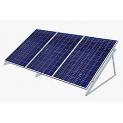 Estructura aluminio 30º soporte 3 módulos fotovoltaicos