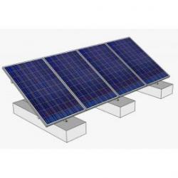 Estructura aluminio 30º soporte 4 módulos fotovoltaicos