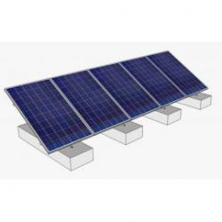 Estructura aluminio 30º soporte 5 módulos fotovoltaicos
