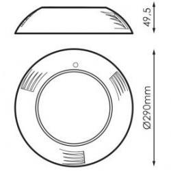 Detalles y medidas de foco led piscina de superficie