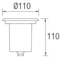 Empotrable Led sumergible Aqua 55-9792-CA-CM Leds C4
