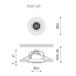Foco empotrado Pop Up regulable 56º 3k blanco Arkoslight