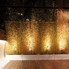 Iluminación con proyectores de suelo Led