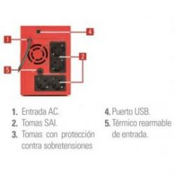SAI Salicru SPS 1200VA SOHO+ doble cargador USB