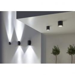 Iluminación de fachada con Aplique exterior gris urbano curie glas Leds C4