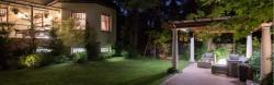 Iluminación jardín con proyector LED
