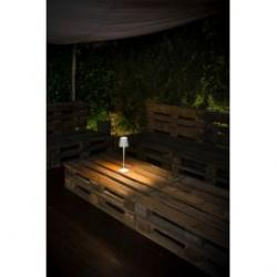 Lámpara LED de sobremesa portátil inalámbrica con batería recargable.