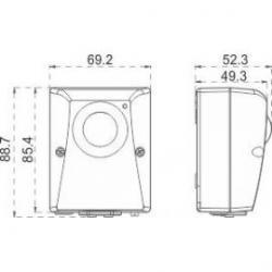 Medidas Interruptor Crepuscular Orbilux de pared Orbis/88.81€