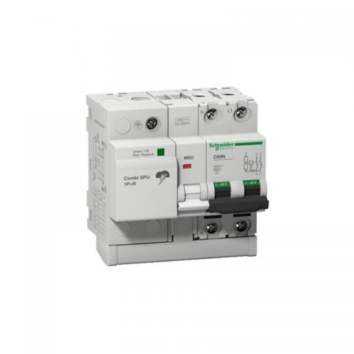 Combi SPU 1P+N 40 A protección combinado sobretensión