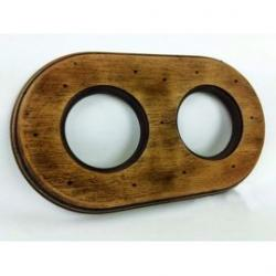 Marco madera haya 2 elementos colonial