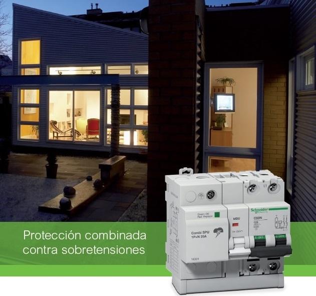 Protectores de sobretensiones Combi SPU de Schneider para un hogar seguro