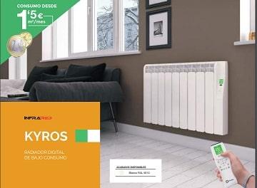 Radiador eléctrico Kyros de Rointe con wifi integrado. 5% de Descuento en Qmadis