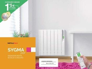 Radiador eléctrico Sygma de Rointe . 5% de Descuento en Qmadis