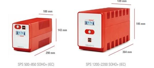 SAI Salicru SPS SOHO+ doble cargador USB