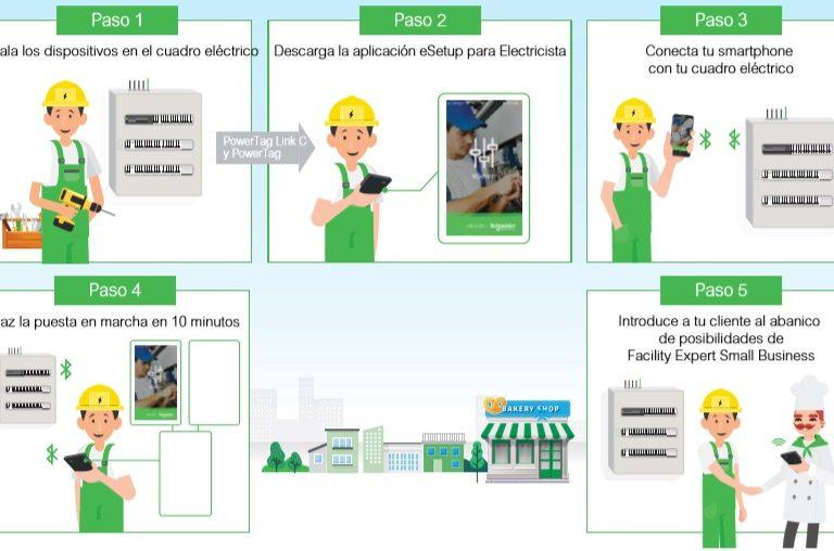 Montaje App Facility Expert de Schneider
