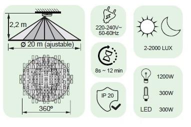 Sensores movimiento para encender luz