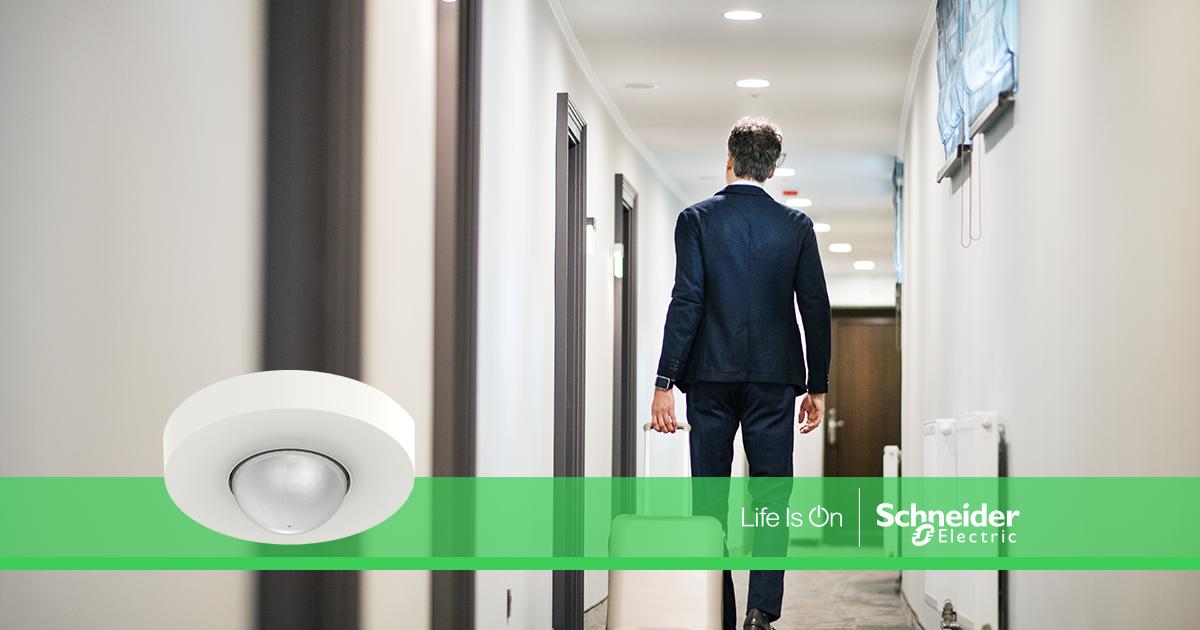 Sensores de movimiento Schneider Electric que ahorran energía