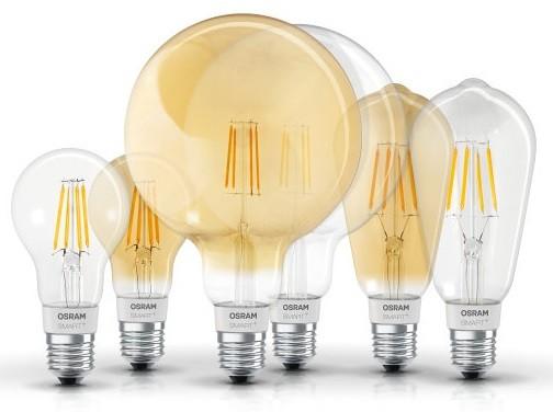 Bombillas LED de filamento OSRAM SMART+ de LEDVANCE en Qmadis