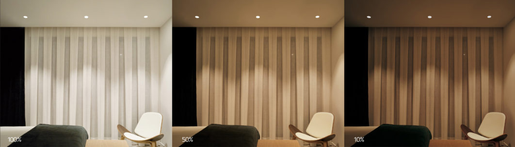 luces swap regulables en dormitorio