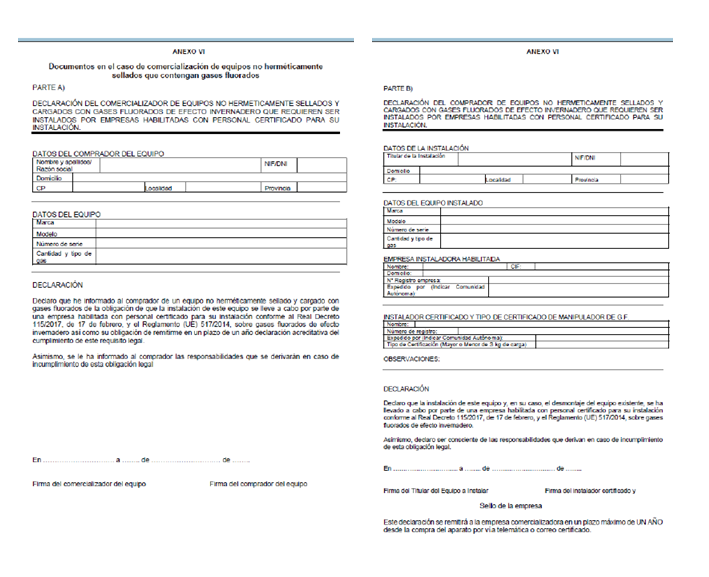 Modelo Registro Administrativo Gases Fluorados